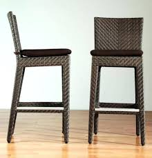 image of outdoor wicker bar stools material bar stools counter
