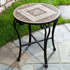 Outdoor Accent Table Mosaic Tile Outdoor Accent Table Outdoor Designs
