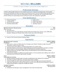 Biomedical Engineer Resume Biomedical Engineering Resume Free Resume Example And Writing