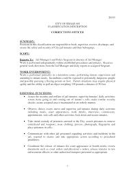 Law Enforcement Sample Resume by Sample Resume For Correctional Officer Sample Resume For