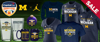 michigan wolverines fan gear michigan wolverines bowl gear u of m orange bowl apparel cus den