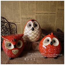 3pcs lot zakka ceramic owl ornaments handmade crafts creative home