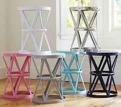 various colors metal side table