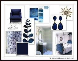 Blue Home Decor Ideas Navy Blue Color Scheme Decor Idea Board By White Linen Interiors