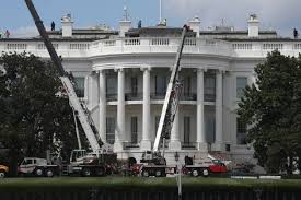 white house renovation 2017 west wing of white house undergoes renovations while trump is in