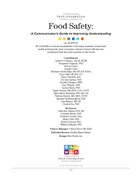 food safety a communicator u0027s guide to improving understanding