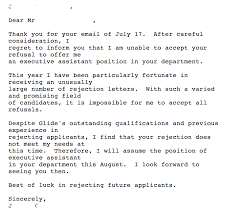 Thank You Letter After Job Interview Executive Assistant Mrw I Get The 200th Rejection Email Album On Imgur