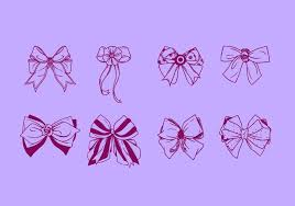 hair ribbon free vector free vector