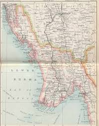 Goo Map File Plate 33 Sect Xii Lower Burma Maps Of Constsbles 1893 Hand