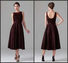 tea length mother of the bride dresses for wedding maroon mother