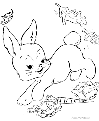 easter bunny coloring pages free 010
