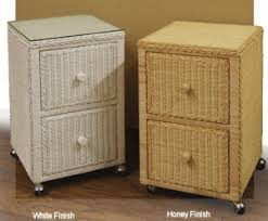 Orange Filing Cabinet Wicker File Cabinets Rattan Office Furniture