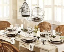 furniture lovely dining room decoration ideas using black bird