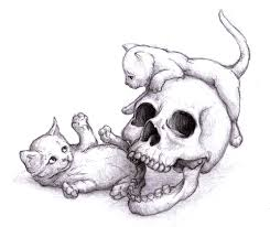 magellin blog skull and kittens sketch