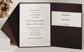 Wedding Pocket Invitations Vintage Ivy Pocket Invitation Kit Wilton