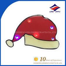 selling christmas hat shape led lapel pin badge buy hat