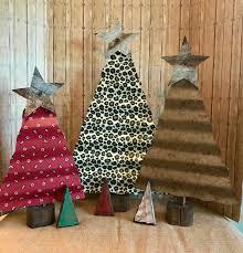 corrugated tin christmas tree rustic christmas trees