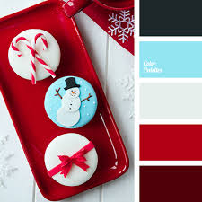 bright blue bright red burgundy christmas palette deep red