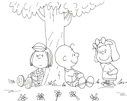 free charlie brown snoopy and peanuts coloring pages peppermint