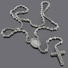 rosary chain necklace images Hip hop jewelry black diamond rosary chain necklace jpg