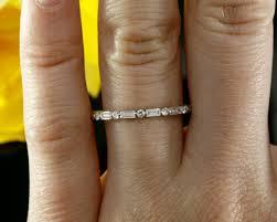 baguette wedding band halfway diamond wedding band baguette diamond wedding ring in
