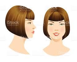 beautiful face with bob haircut stock vector art 512398112 istock