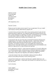 healthcare cover letters best personal care assistant cover
