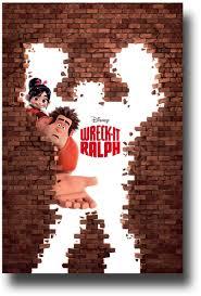 wreck ralph poster u2013 movie promo brick wall 1 u003e u003econcertposter org