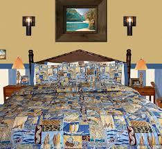 Beachy Comforters Amazon Com Beach Bedding Sunset Beach Queen Full Comforter W