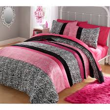Black And White Zebra Bedrooms Your Zone Zebra Bedding Comforter Set Walmart Com