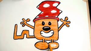 how to draw orange wubbzy wearing his crazy hat on picture day