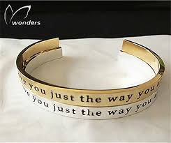 personalized bangle bracelets custom engraved words bangle bracelet for women