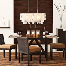appealing rectangular dining room lights with crystal chandelier