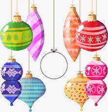 balls color ornaments