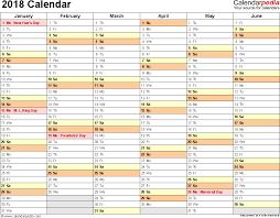 weekly calendar 2018 excel printable calendar weekly