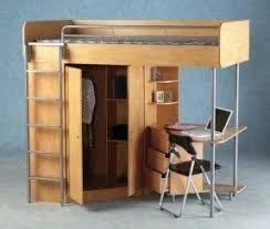 Bunk Bed With Workstation Wood Bunk Bed With Desk Underneath Foter