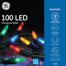 ge staybright 100 count 24 75 ft constant multicolor mini led