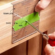 Installation Kitchen Cabinets Cabinet Handle Drilling Jig Best Home Furniture Decoration