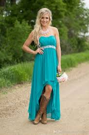 popular country style bridesmaid turquoise dresses buy cheap