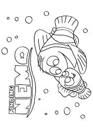 finding nemo coloring pages marlin dory jellyfish coloringstar