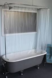 Polished Chrome Shower Curtain Rod Claw Foot Tub Wall Mounted Shower Curtain Rod Add A Shower With