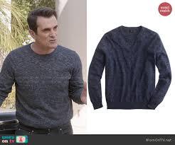 Rugged Clothes Wornontv Phil U0027s Navy Heathered Sweatshirt On Modern Family Ty