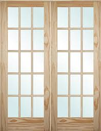 15 light french door cheap 5 0 6 8 tall 15 lite pine interior prehung double wood door