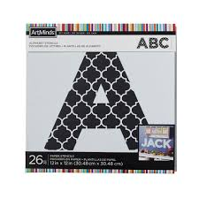 art minds diy home moroccan alphabet stencils by artminds large