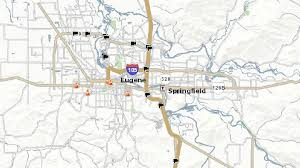 eugene map interstate 5 through eugene springfield from albany to cottage