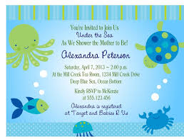under the sea baby shower invitations free templates invitations