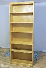 Light Oak Bookcases Giving Old Laminate Furniture A Whole New Look One Good Thing