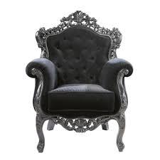 siege capitonné fauteuil capitonné en velours noir maisons du monde