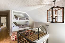 modern country house loft bunk room transitional design by r