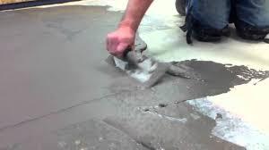Flo Coat Resurfacer by How To Skim Coat A Floor Youtube